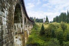 Bogenbrücken in Vorokhta lizenzfreies stockbild