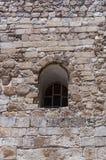 Bogenfenster auf alter Fassade in der alten Stadt Jerusalem Israel Stockfotografie