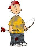 Bogenschütze-Junge Stockfoto