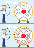 Bogenschütze-Labyrinth Vektor Abbildung