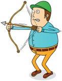 Bogenschießenmann Stockfoto