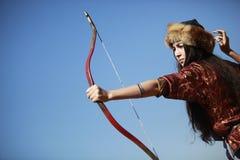 Bogenschießenwettbewerb in der Türkei stockfotografie