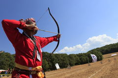 Bogenschießenwettbewerb in der Türkei Lizenzfreies Stockfoto