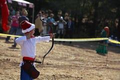 Bogenschießenwettbewerb in der Türkei Stockbild