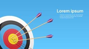 Bogenschießen-Ziel mit Pfeilen Archer Sport Game Competition Stockfoto