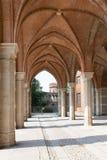 Bogenweise im alten Palast Stockfoto