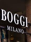 Boggi商店,意大利 库存图片