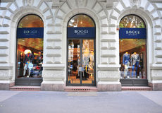 Boggi米兰在布达佩斯街道的总店  图库摄影
