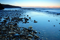 Boggle la costa Inglaterra de North Yorkshire del agujero Imagen de archivo