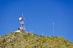 Boggy Peak, Antigua. The top of Boggy Peak, the highest mountain of Antigua royalty free stock photography