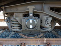 Bogie of a freight wagon Royalty Free Stock Photos