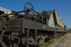 Bogie Hopper Wagon (BHW) against blue sky Royalty Free Stock Image