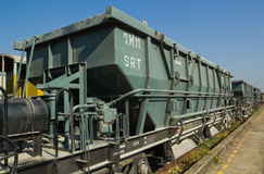Bogie Hopper Wagon (BHW) under blue sky Royalty Free Stock Images