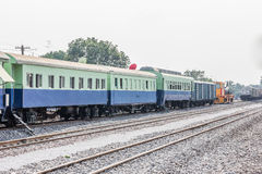Between bogie of a Public Thai Train Railway Royalty Free Stock Photography