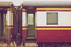 Bogie of train connect together in vintage style Royalty Free Stock Photos