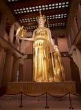 Bogini Athena w Parthenon muzeum, Nashville TN Obraz Royalty Free