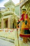 Bogini Durga, grafika i dekoracja, festiwal Zdjęcie Stock