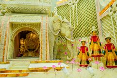 Bogini Durga, grafika i dekoracja, festiwal Zdjęcie Royalty Free