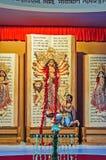 Bogini Durga idola Durga Puja festiwal Calcutta Zdjęcie Royalty Free