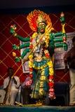 Bogini Durga występ Fotografia Royalty Free