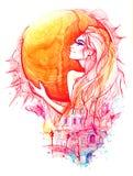 Bogini dzień royalty ilustracja