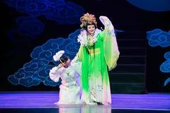 Bogini księżyc i Jiangxi OperaBlue żakiet Obraz Royalty Free