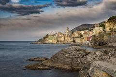 Bogliasco tourist resort in Liguria stock image