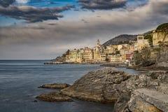 Bogliasco turist- semesterort i Liguria fotografering för bildbyråer