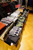 Bogner clothing stand in luxury store in Germany Stock Photos