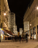 Bognergasse in Vienna at Christmas Stock Photography
