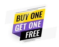 Bogo compra uno per ottenere un'insegna libera di vendita royalty illustrazione gratis