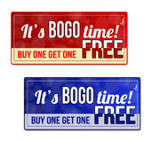 Bogo coupon, voucher, tag Royalty Free Stock Photo