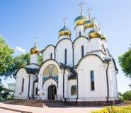 bogolyubovo女修道院夏天视图 免版税图库摄影