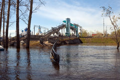 Bogolyubovo in spring  flood Royalty Free Stock Images