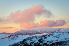 Bogong Sunset Stock Photography