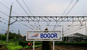 Bogor Railway Station. Bogor, Indonesia - April 14, 2018: Bogor Railway Station in West Java that was built in 1881 Royalty Free Stock Photo