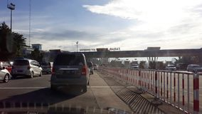 Jagorawi Toll Gate royalty free stock image