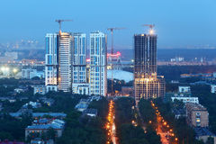 Bogorodsky residential complex under construction Royalty Free Stock Images
