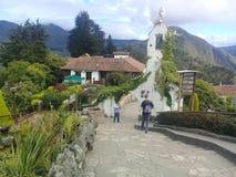 Bogotá, Колумбия - пути Monserrate стоковая фотография rf