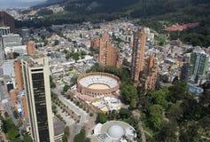 BOGOTÁ, COLOMBIA - 15 DE ENERO DE 2017: Una vista de Bogotá, planetari Foto de archivo