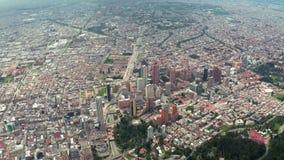 Bogotá, Colombia desde arriba almacen de video
