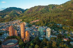 Bogotá y las montañas de los Andes Imágenes de archivo libres de regalías
