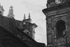 Bogotà ¡ 's从后面的Catedral Primada 库存图片