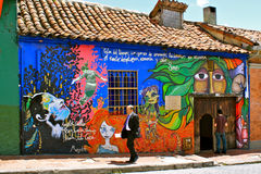 bogot Candelaria Colombia graffiti los angeles Fotografia Royalty Free