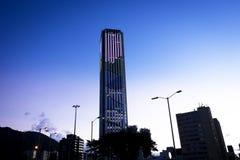 Bogotadel centro al tramonto Fotografie Stock