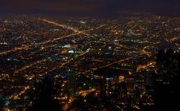 Bogota alla notte Fotografia Stock Libera da Diritti