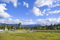Bogota city and mountains Stock Photos