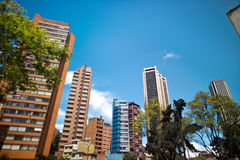 Bogota, Colombia. Financial District at Downtown, Bogota, Colombia, South America royalty free stock image