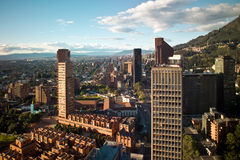 Bogota, Colombia. Panoramic view of the financial district of Bogota, Colombia Royalty Free Stock Image