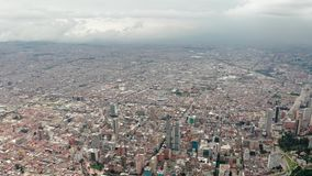 Bogota, Colombia from above stock footage